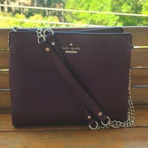 Kate Spade Maroon Pebble Leather Small Handbag